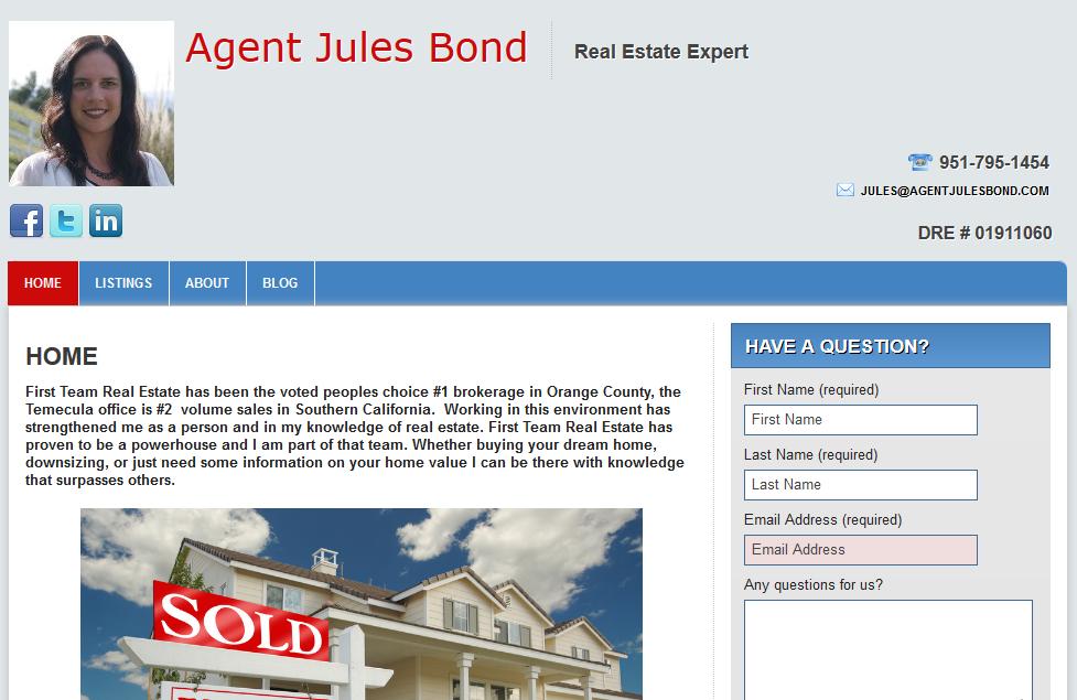 Agent Jules Bond